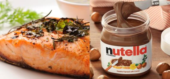 Salmão ao molho de alcaparras ou Nutella? Oh, dúvida cruel...